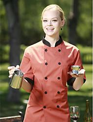 Ресторан Униформа серые короткий рукав шеф-повара пальто с двубортные кнопок