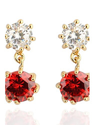 Earring Stud Earrings Jewelry Women Cubic Zirconia 2pcs Silver