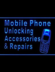 Mobile Phone Unlocking Repair Advertising LED Light Sign