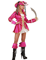 Halloween Costume de Sweet Pirate Fuschia polyester femmes