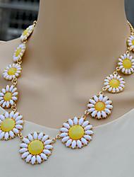 moda siyun high end margarida verão em forma curta colar de cristal incrustado com rhinestoe
