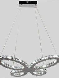 Led Butterfly Shape Metal Frame Crystal Chandelier