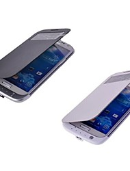 3200mah Sichtfenster mit hoher Kapazität Backup-Batterie-PU-Leder Flip-Cover für Samsung-s4
