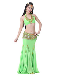 Performance Women's Satin Belly Dance Outfits-Including Top,Belt,Skirt(More Colors)