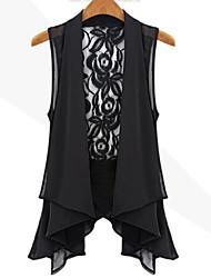 Miluola Women's Lace Chiffon Vest Jacket