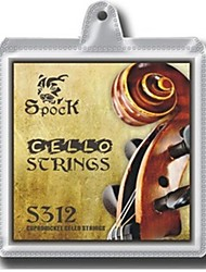S312 Немецкий Серебряный Виолончель Строки, пригодный для 1/8-4/4 The виолончели