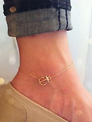 shixin® clássica forma de ouro âncora tornozeleira (1 pc) jóias