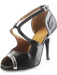 женские из кожзаменителя Верхняя латинских танцев обувь сандалии с пряжкой (больше цветов)