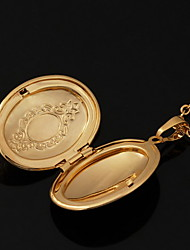 U7® 18K Real Gold Plated Vintagephoto Locket