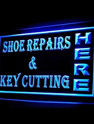 Shoe Repairs Key Cutting Advertising LED Light Sign