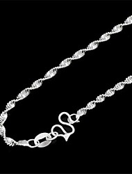 Wavy Silver-Plated Necklace (1Pc)
