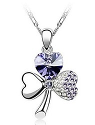 Mengguang Women's Diamonade Charming Crystal Necklace