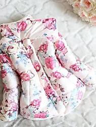 Girl's Blue / Pink Jacket & Coat Cotton Winter