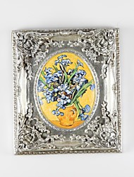 Hand-painted Famous Dietes Grandiflora Oil Paintings by Van Gogh with Resin Frame Wall Decor Ready to Hang