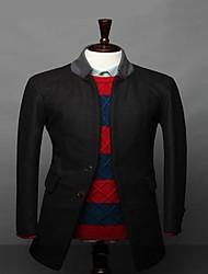 Men's Long Sleeve Long Blazer , Organic Cotton Pure