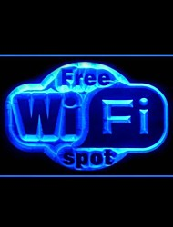 Free Wi-Fi Spot Advertising LED Light Sign