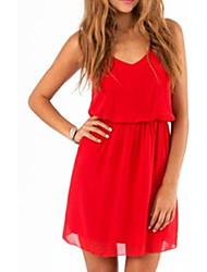 Women's Dresses , Chiffon Eveni