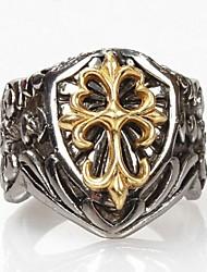 Anéis Formato de Cruz Diário Jóias Aço Titânio Maxi anel7 8 9 10 11 Prateado