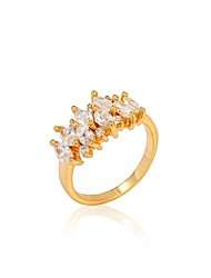 Statement Rings Cubic Zirconia 18K gold Fashion Screen Color Jewelry Party 1pc