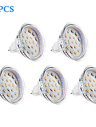 4W GU5.3(MR16) LED Spotlight MR16 15 SMD 2835 300 lm Warm White DC 12 / AC 12 V 5 pcs