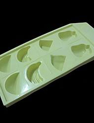 "Mixed FruitIce Mould Silicone Ice Cubes (Random Color) ,Silicone 10""X4.4""0.8"""