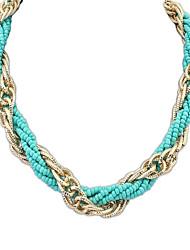 Bohême ethnique Charme perles en alliage de femmes Tissé collier de chaîne (Plus de couleurs) (1 pc)