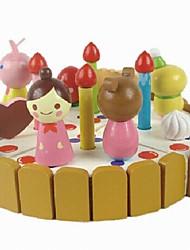 Éducatifs en bois Gâteaux de modèle en trois dimensions de Contruction blocs