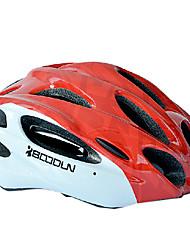 boodun 15 aberturas de montanha vermelha integralmente moldado capacete ciclismo (56-62 centímetros)