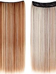 Clip lungo rettilineo sintetico 24 pollici in estensioni dei capelli con 5 clips - 24 colori disponibili