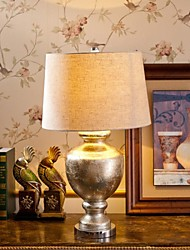 Vintage Golden Foil Table Lamp, One Light, Glass and Fabric (TD3201)