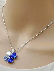 moda siyun high end trevo de quatro folhas em forma de colar curto