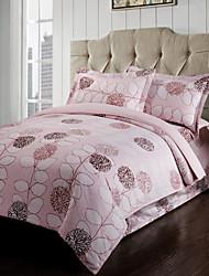 4 Piece - Country Elegant Floral Blossoms (400 Thread Count) Duvet Set