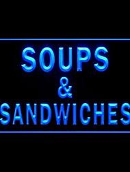 Sopa Sanduíches Publicidade LED Sign