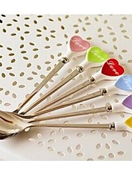 Stainless Steel Spoon Coffee Spoon Stir Ceramic Love (1PC)