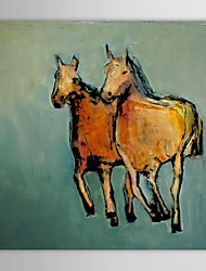 IARTS®Hand Painted Oil Painting Animal Two Horse Picture with Stretched Frame