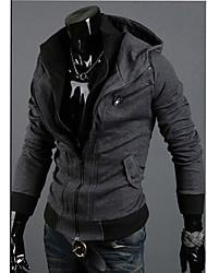 Homens Kuxing Casual manga comprida com capuz Blusa (DarkGray)