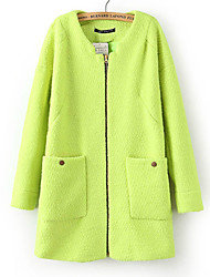 YINBO Candy Color Zipper Long Sleeve Fashion Coat