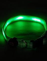 6 Led Dog Chain Green Belt