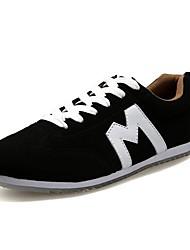 Appartamento Heel punta rotonda da uomo in pelle scamosciata Fashion Sneakers con scarpe stringate (più colori)