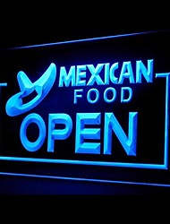 Mexican Food Open Promotion Green Blue Red White Orange Purple Yellow Advertising LED Light Sign