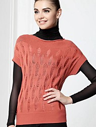 Women's Red/Black Pullover , Cute Short Sleeve