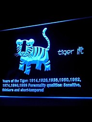 Tiger zodíaco chinês Publicidade LED Sign