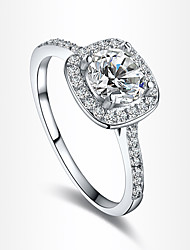 RIM Elegant Arrows Inlaid Zircon Platinum Alloy Diamonade Ring