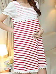 Maternity's New Fashion Stripe Mosaic Maternity Dress