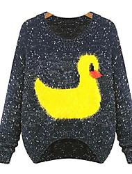 Women's Sweaters , Acrylic Casual Chunou
