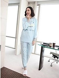 Maternity Overalls Hooded Nursing Top and Capris Pants Pregnant Clothing Set Maternity Suit