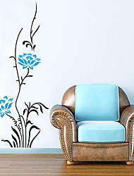 Createforlife® Blue Floral Bushes Kids Nursery Room Wall Sticker Wall Art Decals