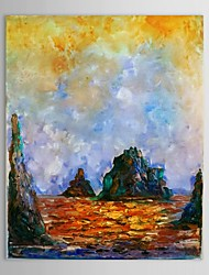 Hand Painted Oil Painting Landscape  Island Wall Picture with Stretched Frame