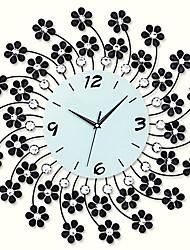 """20 """"элегантный цветочный настенные часы дизайн утюга"""