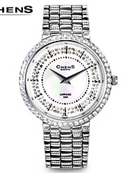 Chen®Women's Fashion Zirconia Ultrathin Stainless Steel Quartz Watch